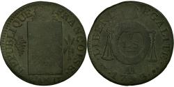 World Coins - Coin, France, Sol aux balances françoise, Sol, 1793, Metz, , Bronze
