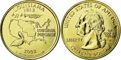 Us Coins - Coin, United States, Louisiana, Quarter, 2002, U.S. Mint, , Gold plated
