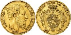 Ancient Coins - Coin, Belgium, Leopold II, 20 Francs, 20 Frank, 1867, , Gold, KM:32
