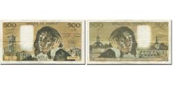 World Coins - France, 500 Francs, Pascal, 1968, 1973-12-06, EF(40-45), Fayette:71.10, KM:156b