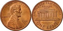 Us Coins - United States, Lincoln Cent, Cent, 1991, U.S. Mint, Denver, , Copper