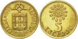 World Coins - Coin, Portugal, 5 Escudos, 1999, , Nickel-brass, KM:632