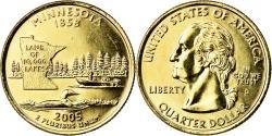 Us Coins - Coin, United States, Minnesota, Quarter, 2005, U.S. Mint, Denver, golden