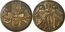 World Coins - France, Medal, Folklore, Picardie, Boulogne sur Mer, 1982, Crouzat,