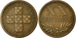 World Coins - Coin, Portugal, 20 Centavos, 1945, , Bronze, KM:584