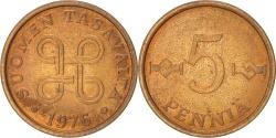 World Coins - FINLAND, 5 Pennia, 1976, KM #45, , Copper, 18.5