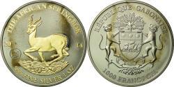 World Coins - Coin, Gabon, African Springbox, 1000 Francs, 2014, Paris, golden,