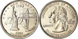 Us Coins - Coin, United States, New York, Quarter, 2001, Denver, , Copper-Nickel