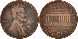 Us Coins - United States, Lincoln Cent, 1961, Denver, , KM:201