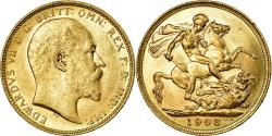 World Coins - Coin, Australia, Edward VII, Sovereign, 1908, Melbourne, , Gold, KM:15