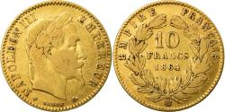 Ancient Coins - Coin, France, Napoleon III, 10 Francs, 1864, Strasbourg, Large BB, Gold