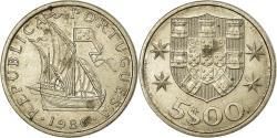 World Coins - Coin, Portugal, 5 Escudos, 1986, , Copper-nickel, KM:591