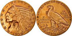 Us Coins - Coin, United States, Indian Head, $5, Half Eagle, 1909, U.S. Mint, Denver