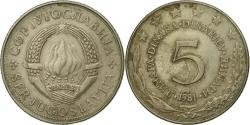 World Coins - Coin, Yugoslavia, 5 Dinara, 1981, , Copper-Nickel-Zinc, KM:58