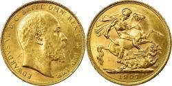 World Coins - Coin, Australia, Edward VII, Sovereign, 1907, Melbourne, , Gold, KM:15