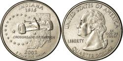 Us Coins - Coin, United States, Indiana, Quarter, 2002, U.S. Mint, Denver,