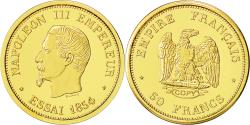 World Coins - France, Medal, Reproduction 50 Francs Napoléon, 1854, MS(63), Gold