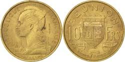 World Coins - REUNION, 10 Francs, 1955, KM #E6, , Aluminum-Bronze, Lecompte #77, 2.96