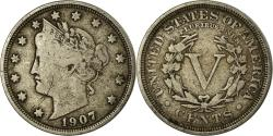 Us Coins - Coin, United States, Liberty Nickel, 5 Cents, 1907, U.S. Mint, Philadelphia
