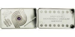World Coins - Uruguay, Medal, Lingotin, Wild Joyas, Amethyst, Montevideo, , Silver