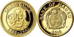 World Coins - Coin, Nauru, Galileo Galilei, 5 Dollars, 2010, , Gold