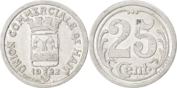 World Coins - France, 25 Centimes, 1922, , Aluminium, Elie #10.3, 2.12