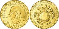 World Coins - France, Medal, Charles De Gaulle, 1980, , Gold