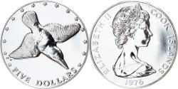 World Coins - Coin, Cook Islands, Elizabeth II, 5 Dollars, 1976, Franklin Mint, USA, Proof