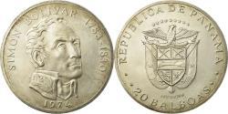 World Coins - Coin, Panama, 20 Balboas, 1974, U.S. Mint, , Silver, KM:31