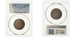 World Coins - Coin, France, Louis XVI, 1/2 Sol ou 1/2 sou, 1/2 Sol, 1784, Paris, PCGS, MS64BN
