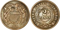 Us Coins - Coin, United States, 2 Cents, 1865, U.S. Mint, Philadelphia,