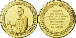 World Coins - France, Medal, Philosophie, Jean-Jacques Rousseau, , Vermeil