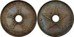 World Coins - Coin, CONGO FREE STATE, Leopold II, 10 Centimes, 1888, , Copper, KM:4