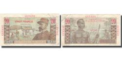 World Coins - Banknote, FRENCH GUIANA, 20 Francs, KM:21a, VF(30-35)