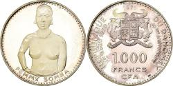 World Coins - Coin, DAHOMEY, 1000 Francs, 1971, Proof, , Silver, KM:4.2