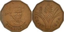 World Coins - Swaziland, Sobhuza II, Cent, 1974, British Royal Mint, , Bronze, KM:7
