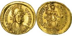 Coin, Honorius, Solidus, Constantinople, , Gold, RIC:8