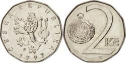 World Coins - Czech Republic, 2 Koruny, 1997, , Nickel plated steel, KM:9