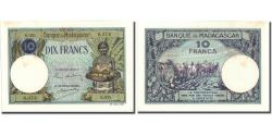 World Coins - Banknote, Madagascar, 10 Francs, KM:36, UNC(60-62)