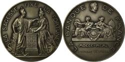 World Coins - France, Medal, La Banque de France, La Sagesse fixe la Fortune, 1950, Dumarest