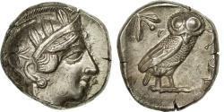 Ancient Coins - Coin, Attica, Tetradrachm, Athens, AU(50-53), Silver, SNG Cop:31, HGC:4-1597