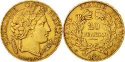 Ancient Coins - Coin, France, Cérès, 20 Francs, 1851, Paris, AU(50-53), Gold, KM:762