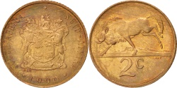 World Coins - SOUTH AFRICA, 2 Cents, 1990, KM #83, , Bronze, 22.45, 4.02