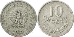 World Coins - Coin, Poland, 10 Groszy, 1949, Warsaw, , Aluminum, KM:42a