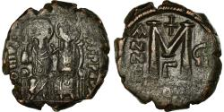 Ancient Coins - Coin, Justin II, Follis, 571-572, Constantinople, , Copper, Sear:360