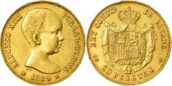 World Coins - Coin, Spain, Alfonso XIII, 20 Pesetas, 1889, Madrid, , Gold, KM:693