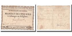 World Coins - France, 5 Sols, Undated (1791-92), CUJOUL, AU(50-53)