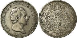 World Coins - Coin, ITALIAN STATES, SARDINIA, Carlo Felice, 5 Lire, 1829, Torino,
