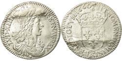 World Coins - Coin, France, Louis XIV, 1/12 Écu au buste juvénile, 1/12 ECU, 10 Sols, 1660