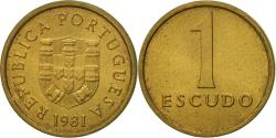 World Coins - Coin, Portugal, Escudo, 1981, , Nickel-brass, KM:614